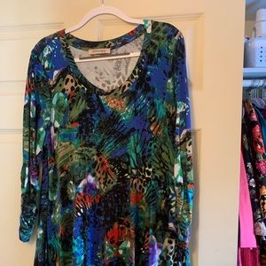 Colorful Tunic by Philosophy fits like 1X-2X